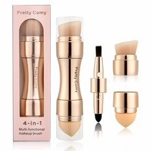 4 in 1 Foundation Makeup Brushes Tool Eyebrow Eyeliner Powder Concealer Cosmetics Tools