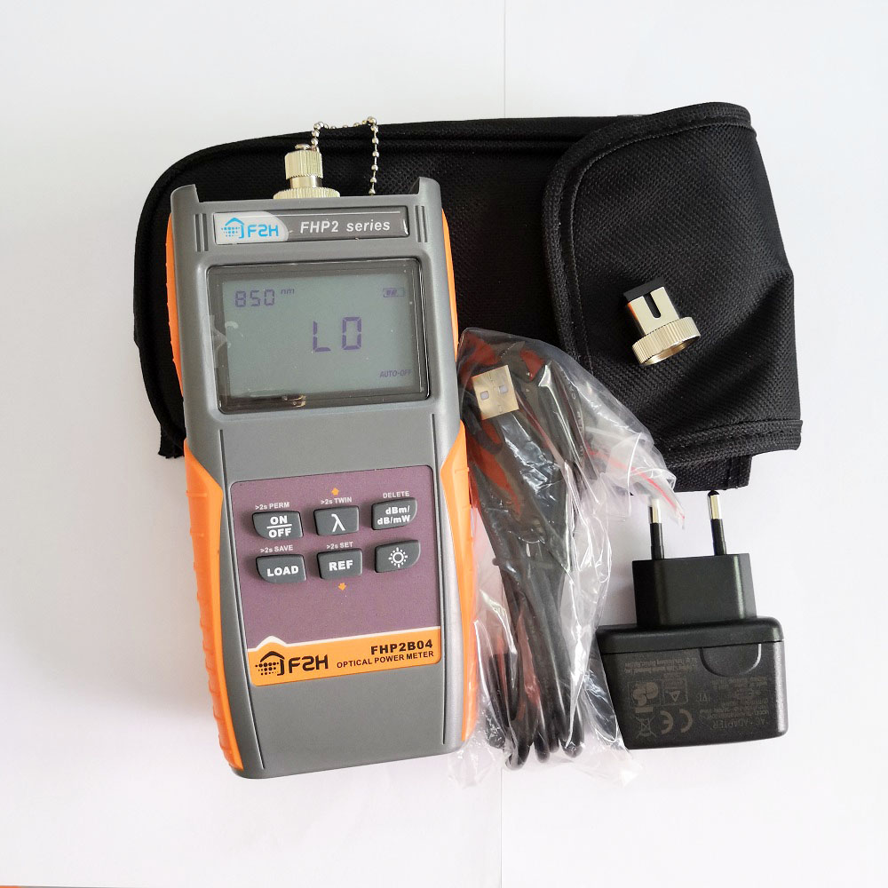 Grandway FHP2A04 Or FHP2B04 Rechargeable Fiber Optical Power Meter With Data Storage Function