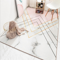 AOVOLL Carpets For Living Room Nordic Home Pink Geometric Element Pattern Carpet Floor Mat Bedroom Rug Grey Modern Home Decor