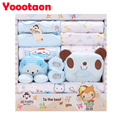 100% cotton 17pcs/set New born underwear clothes sets with baby blanket and pillow High quality newborn baby clothing gift set
