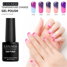 Catuness Kuku Dipimpin Rendam Off Tahan Lama Thermo Glitter Warna Gel Polish Lucky Set untuk Kuku Gel Rendam Off LED kuku RT Gel Varnish(China)