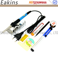 60W 220V EU Electric Adjustable Temperature Welding Solder Soldering Iron Welding Tool With 10pcs Iron Tips