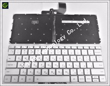 Russian Keyboard for Xiaomi MI Air 13.3 inch 9Z.ND7BW.001 MK10000005761 490.09U07.0D01 notebook RU silver Backlit New