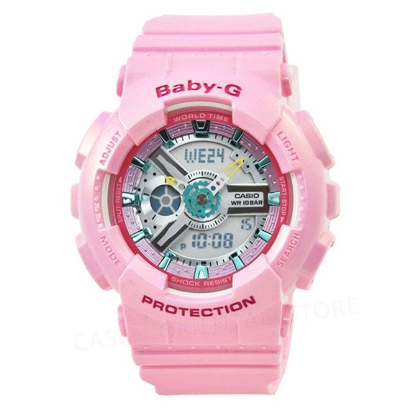 Casio 2018 sports watch baby-g series outdoor sports waterproof ladies watch pink rubber band BA-110CA-4A Quartz Watches Relogio cambridge university boat club