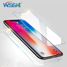 Protective Glass For iPhone XR 6 6s Plus X Xs Max 5s 2.5D Screen Protector on iPhone 8 7 4s front protective glass film 9H Hard yimi protective front screen water cube silver tree style back protector film for iphone 4 4s