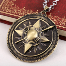 Movie Game of thrones Jewelry House Martell Family Crest metal pendant necklace Bronze Pendants Free to send the chain