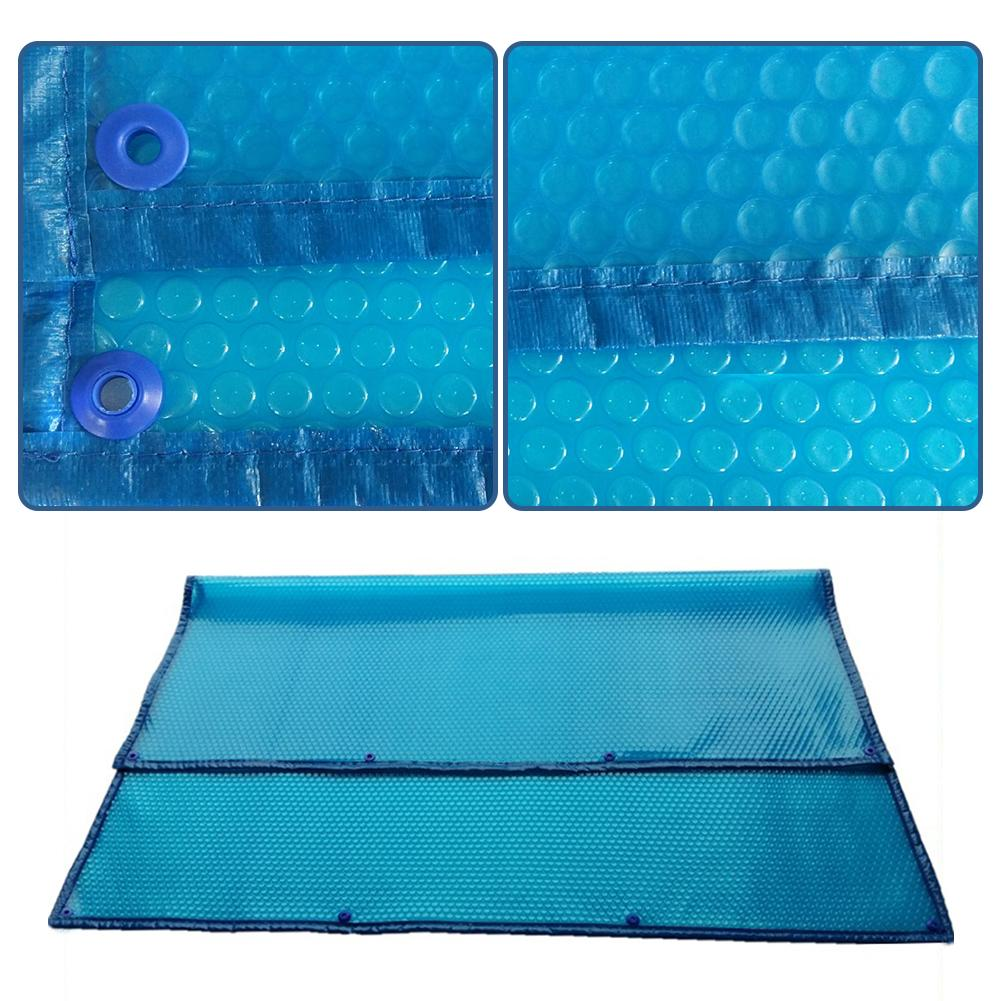 High-quality Swimming Pool Cover Waterproof And Dustproof Insulation Film With Perforated Edging Blue Swimming Pool Accessories