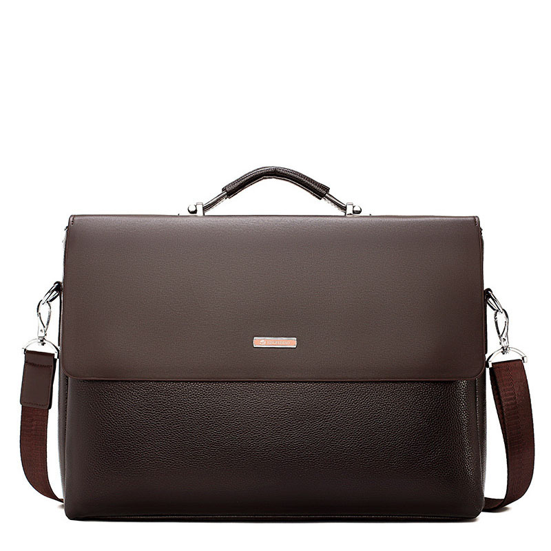 2020 New Business Men Briefcase Leather Laptop Handbag Tote Casual Man Bag For Male Shoulder Bag Male Office  Messenger Bag