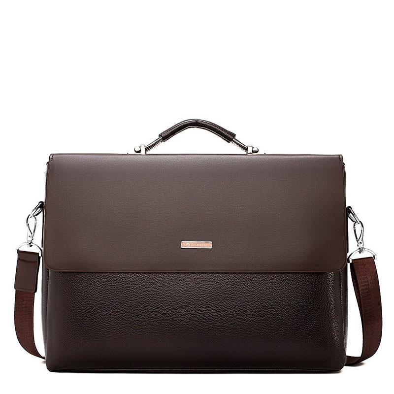 2020 New Business Men Briefcase Leather Laptop Handbag Tote Casual Man Bag For Male Shoulder Bag Male Office  Messenger Bag