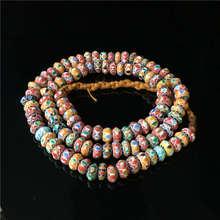 TSB0003 непальская ручная работа, стеклянные разноцветные радужные бусины 8-9 мм, тибетское цветное стеклянное ожерелье из бисера
