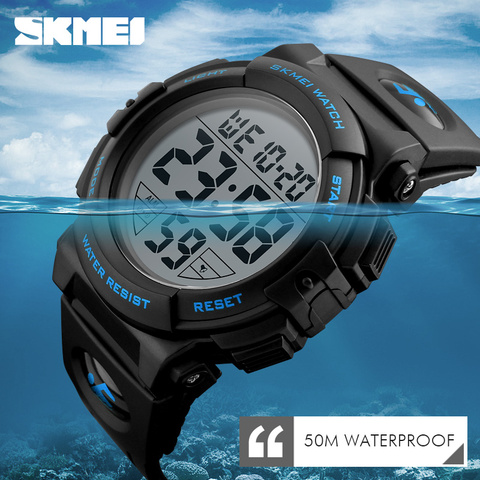 Children Watches LED Digital Multifunctional Waterproof Wristwatches Outdoor Sports Watches for Kids Boy Girls SKMEI 2018 Pakistan