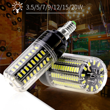 Power LED Corn Bulb E27 220V 28 40 72 108 132 156 189led Energy Saving Light 110V E14 Aluminum 3.5W 5W 7W 9W 12W 15W 20W SMD5736