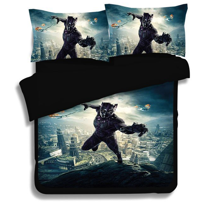 Black Panth 3D Printed bedding set Marvel Superhero Duvet Covers Pillowcases The Avengers comforter bedding sets