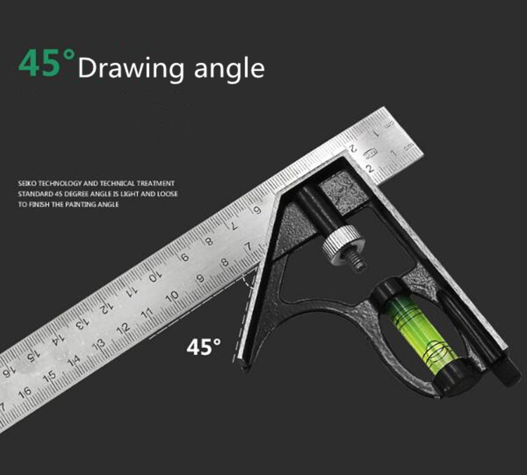 Professional 300mm Combination Square Angle Ruler