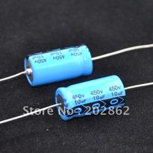 Free shipping 10pcs/lot Axial Electrolytic Capacitor 10uf 450V for tube amplifier DIY free shipping 20pcs lot 2sb778 2sd998 b778 d998 paired tube amplifier new original