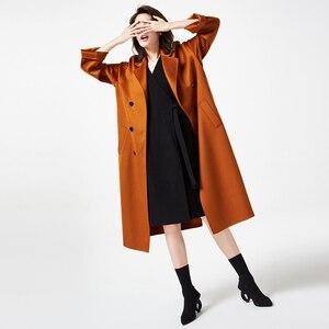 Image 4 - IRINAW902 mới xuất hiện 2018 handmade đôi phải đối mặt với Len Cổ Điển đôi rời dài Cashmere Áo Khoác Len Nữ