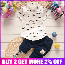 BibiCola Summer Baby Boys Clothes Suits Gentleman Style Boys Clothing Sets T- Shirt+Pants 2 Pcs Casual Sport Suits Toddler Sets