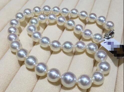 classic 10-11mm natural south sea white pearl necklace 18inchclassic 10-11mm natural south sea white pearl necklace 18inch