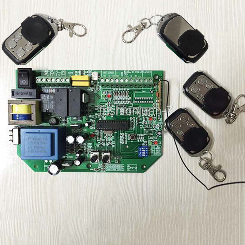 High Quality & Brand New AC sliding gate opener control board learning code+ 4pcs remote controls