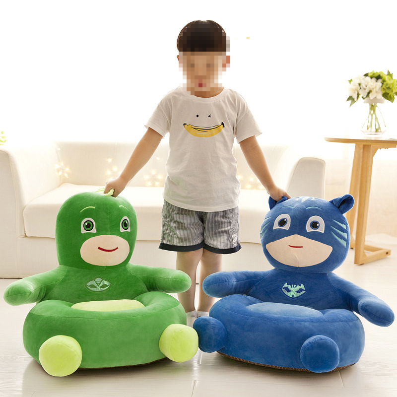 PJ Mask Action Figure Single Child Small Sofa Lazy Plush Chair PJ Mascot Plush Bag Toy Birthday Gift