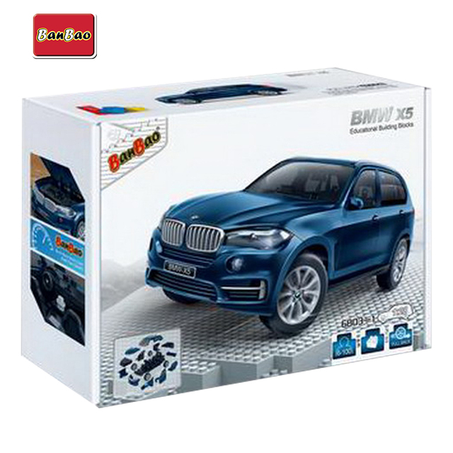 Model Building Kits for kids BANBAO BMW X5 blue 6803-1