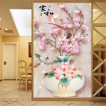 DiamondEmbroidery,China,landscape,scenery,Magnolia flower,5D Full Diamond Painting,Cross Stitch,Flower Mosaic,Decoration