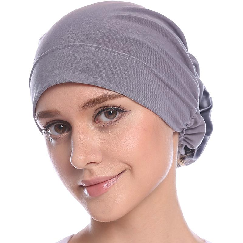 2018 New Women Turban Hat India Cap Muslim Hats Hairnet Chemo Cap Flower Bonnet   Beanie   for Women