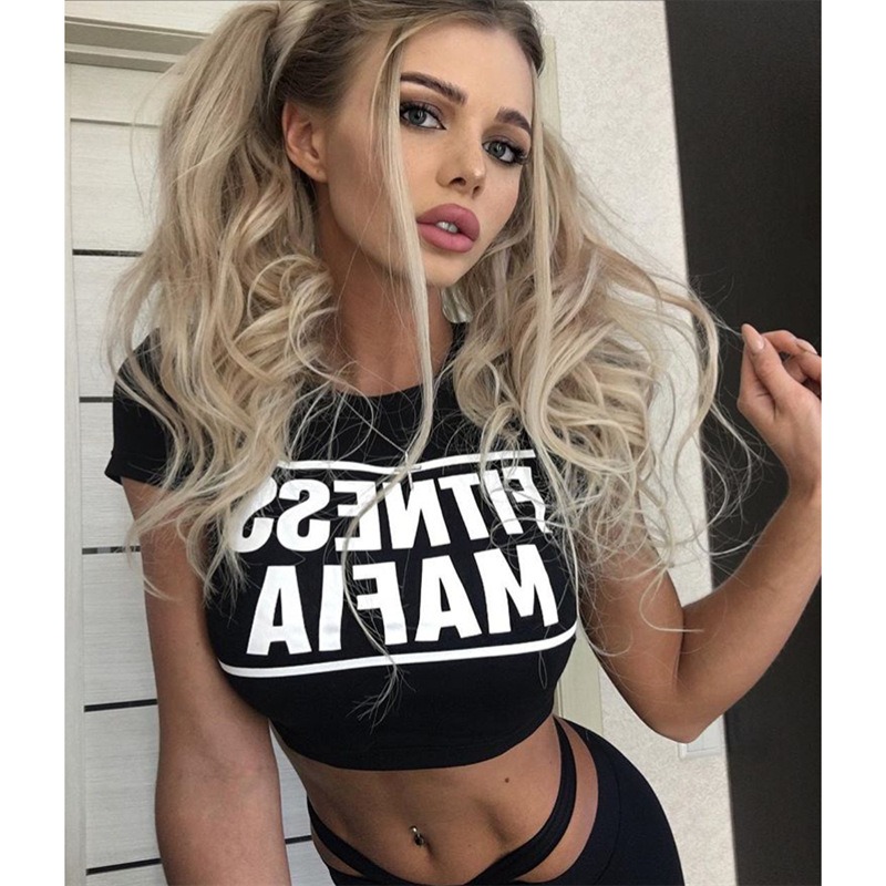 Two Piece Sport Suit Women Yoga Set Short Sleeve Crop Top TShirt and Leggings Sexy Yoga Wear Fitness Track Suit Sportswear