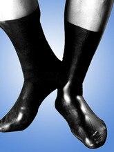 Фетиш латекс носки унисекс резиновые носок различный цвет