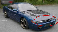 Car Accessories Carbon Fiber GTR Style Front Grille Fit For 1989 1994 S13 Silvia PS13 Front Grille Car styling