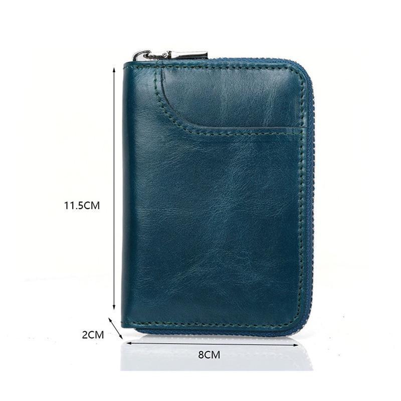 Card Holder Wallet RFID Blockering Kort Äkta Läder Kreditkort - Plånböcker - Foto 2