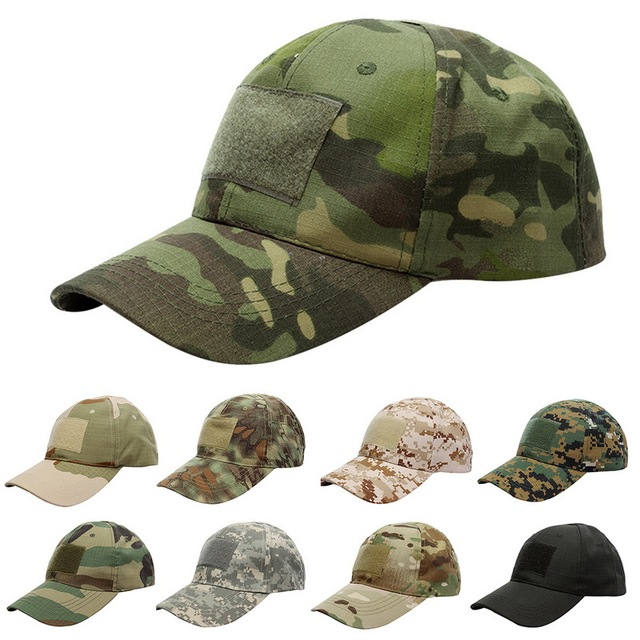 1e1aad751f4b4 17 Patterns Snapback Camouflage Cap Hat Tactical Patch Army Tactical  Baseball Cap Unisex ACU CP Desert Camo Hats For Men