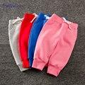 Nova primavera 2017 meninos meninas harem pants de lã quente dentro de algodão sólida calças calças do bebê crianças roupas de bebê calça casual