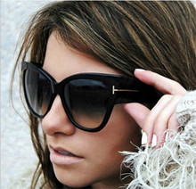 M33 New Tom Fashion Brand Designer Cat Eye Women Sunglasses Female Gradient Points Sun Glasses Big Oculos feminino de sol