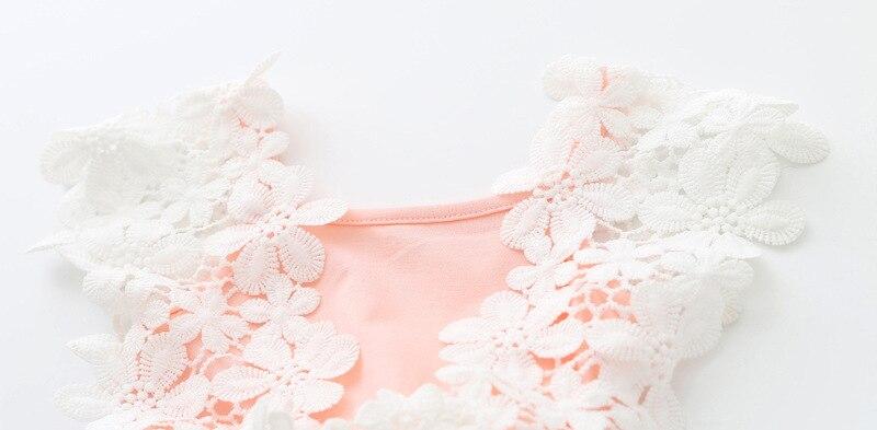 2017 nyári baba lány ruha csipke virág baba hercegnő ruha háló - Bébi ruházat - Fénykép 4