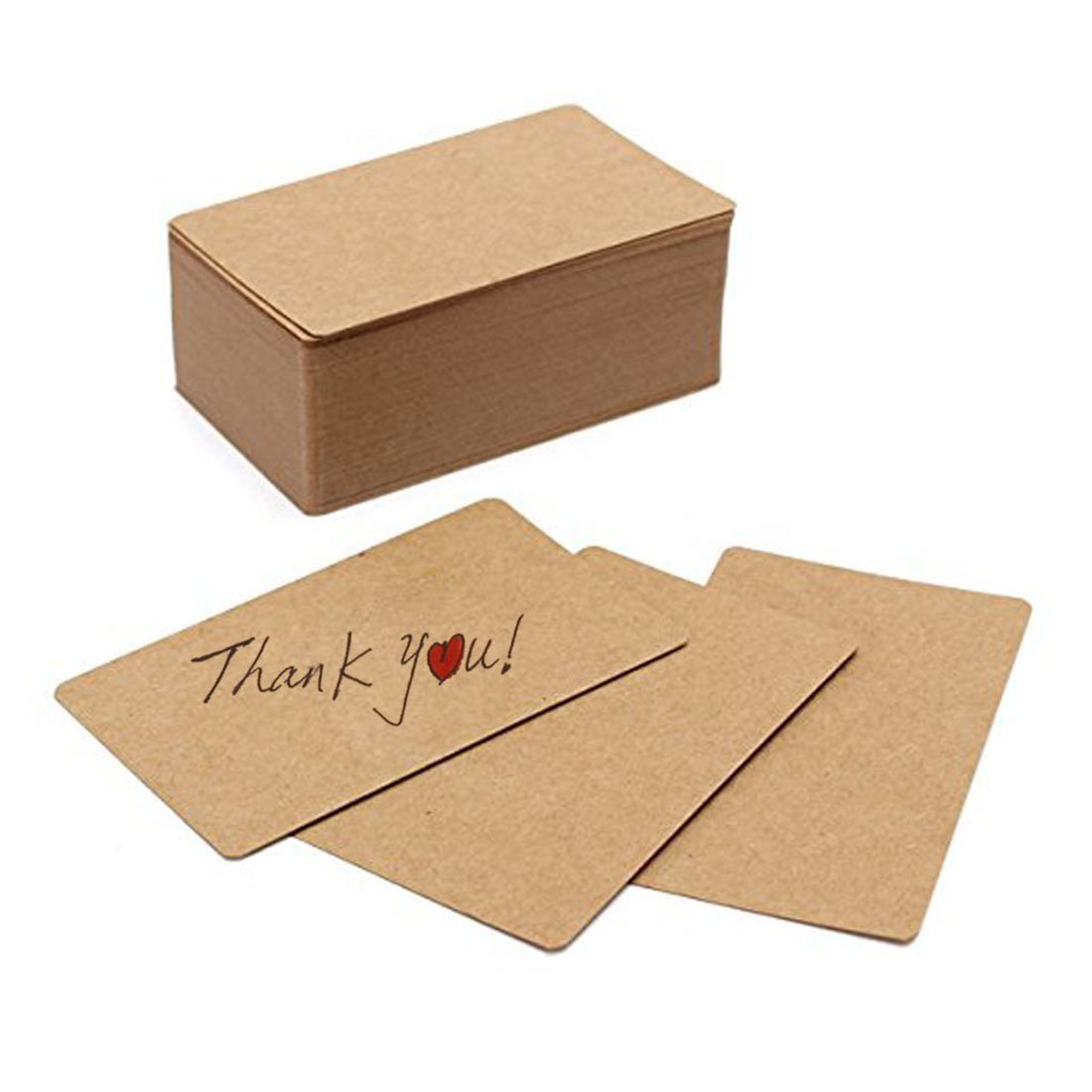 100pcs Blank Kraft paper Business Cards Word Card Message Card DIY Gift Card image