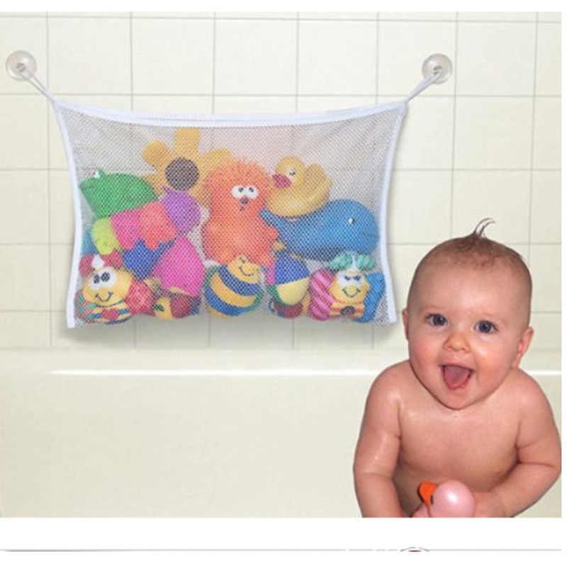 1 pc 45*35 cm przydatne łazienka worek do przechowywania dla dzieci dla dzieci zabawki do kąpieli dla dzieci etui do przechowywania pojemniki netto Mesh torba Sucker