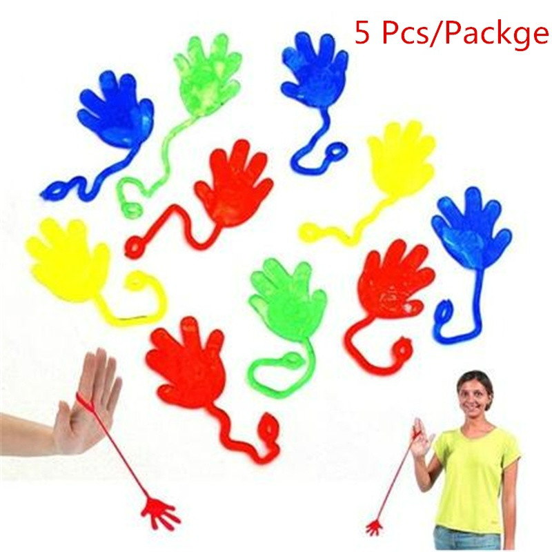 Wind Up Toys 5 Pcs Kids Halloween Party Supply Favors Big Size Sticky Jelly Stick Slap Squishy Hands Funny Toy For Boy Gift