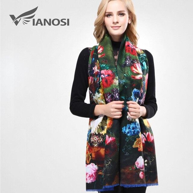 VIANOSI Bandana estampada para mujer, pañuelo de invierno, bufandas gruesas calientes de lana