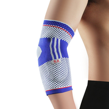 Kuangmi Silicone Pad Breathable Elbow Compression Sleeve Arm Warmers Cycling Brace Tendonitis Basketball Protector Support