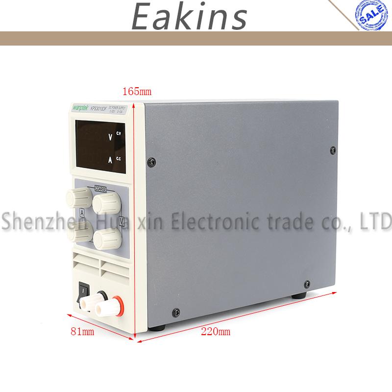 KPS3010DF 0-30 V/0-10A 110 V-230 V 0,01 V/0.001A UE Digital LED de conmutación ajustable fuente de alimentación DC mA Pantalla de 4 dígitos - 3