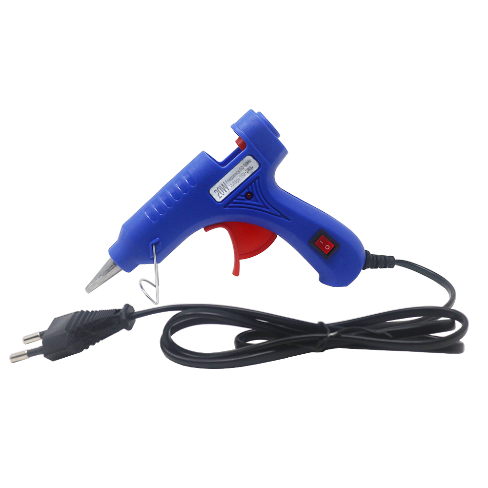 Hot Melt Glue Gun Bracket 20W Industrial Mini Guns With 0.7x10cm Glue Sticks Electric Heat Glue Guns Tool EU Plug