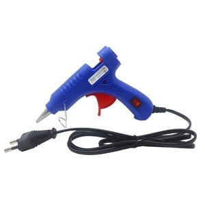 Hot Melt Glue Gun Bracket 20W Industrial Mini Guns with 0.7x10cm Glue Sticks Electric Heat Glue Guns Tool EU Plug(China)