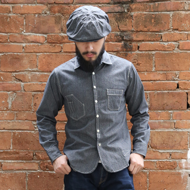 Lire la DESCRIPTION chemise à manches décontracté décontractée BRONSON pour hommes chemise en coton vintage pour hommes