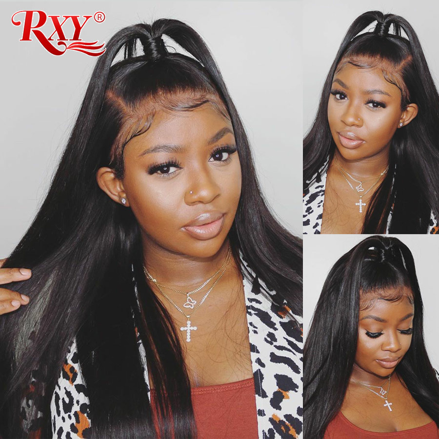150 Density 13X6 Lace Front Wig Straight Lace Front Wig With Baby Hair RXY Remy Lace