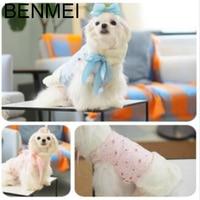 BENMEI Dikker Warme Hond Jas Kleding Voor Kleine Honden Print Patroon Vest Voor Honden Winter Kleding Kostuums XS-XL roze