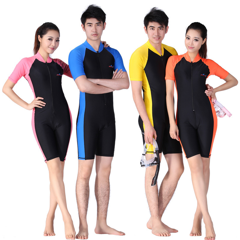 Diving Suits for Men& Women Beach UV Protection Short Pants Swimwear Quick-dry Swimming Suit Snorkeling Wetsuits Anti-jellyfish