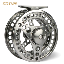 Goture Brand 5/6 7/8 wt Fly Fishing Reel CNC Machine Cut Fishing Reel Large Arbor Die Casting Aluminum Fly Reel with bag