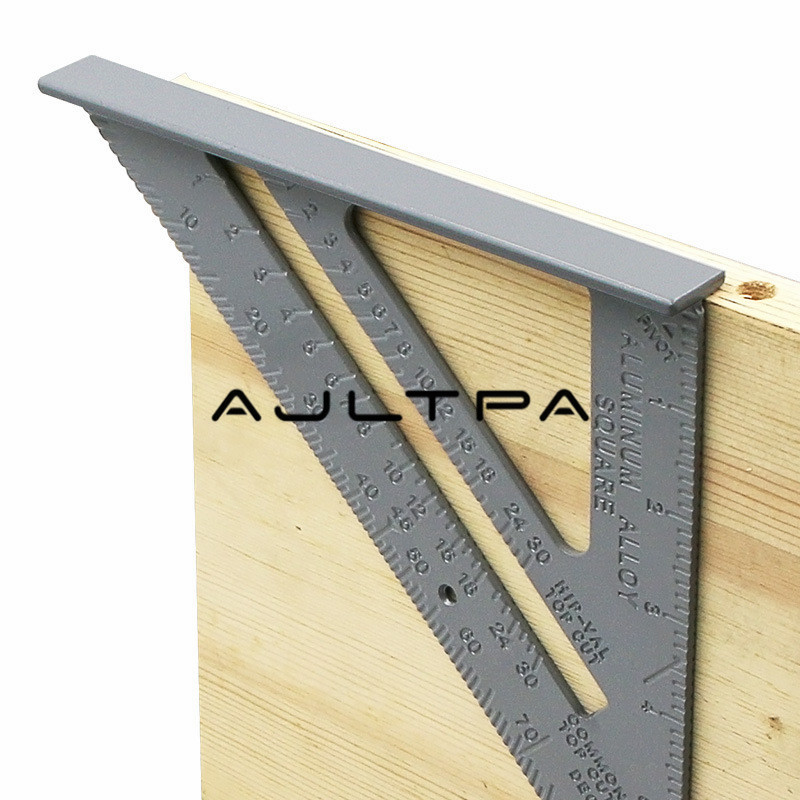 30Pcs 7 Inch Aluminum Alloy Measuring Ruler Carpenter Triangle Ruler 90 Degree 45 Degree Angle Ruler For Tester Tools
