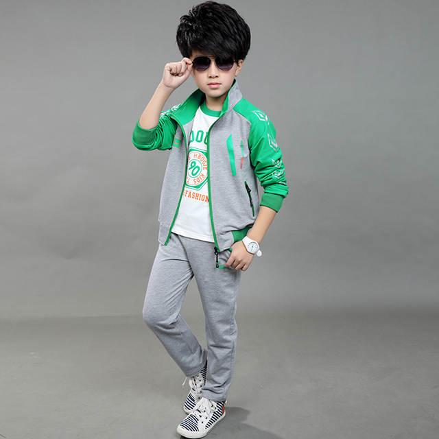 2018 primavera otoño niños ropa de deporte conjunto de 3 piezas de moda de  los muchachos 20c2096ca41